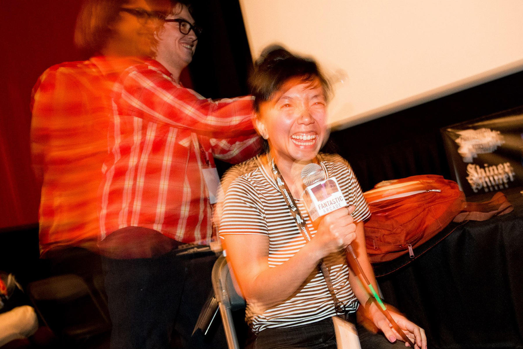 Hosts Wiley Wiggins and Thu Tran, Photo by Emi Spicer
